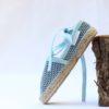 Alpargata Brisa plana bailarina azul de Bondesio