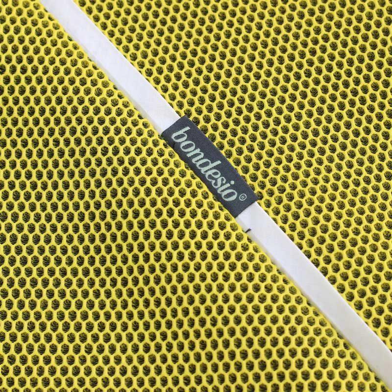 Tejido Brisa amarillo con bies blanco de Bondesio