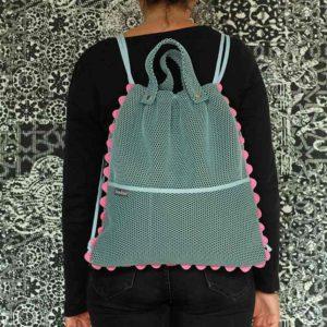 Mochila Brisa azul diseñada y confeccionada por Bondesio