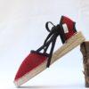Sandalia brisa cuña 3 roja- negra de Bondesio también Sandalia cuña sandalias plana o sandalias de tacón sandalias mujer plataforma