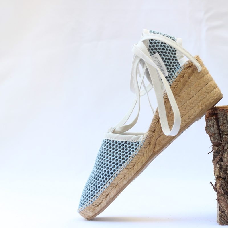 Sandalia Brisa cuña 5 azul-blanco de Bondesio