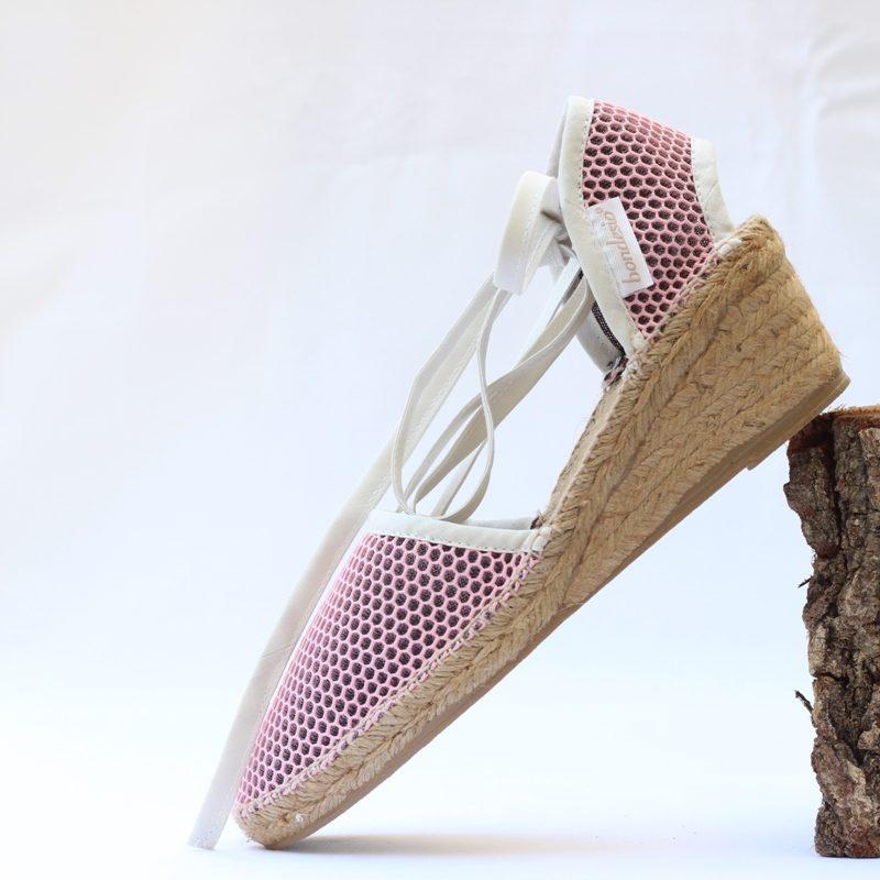 Sandalia Brisa cuña 5 rosa-blanco de Bondesio
