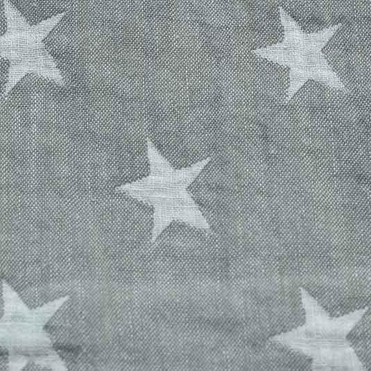 haz tu manta bebe de Lino estrellas antracita blanco de Bondesiobebe