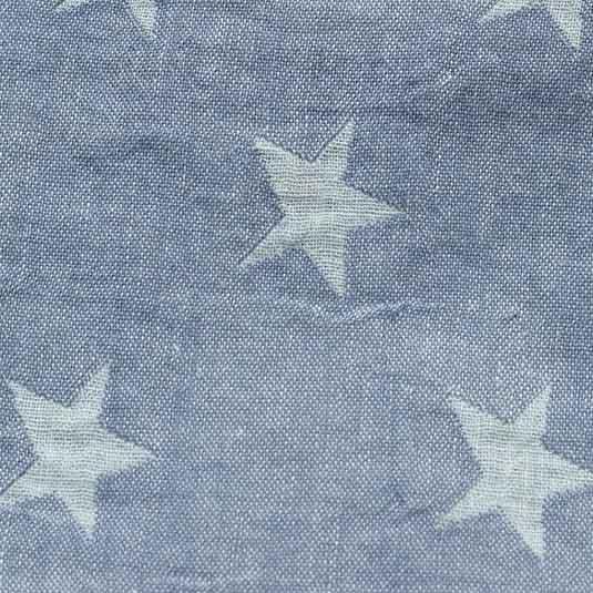 Lino estrellas azul blanco para manta de bebe