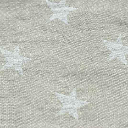 Lino estrellas beige blanco de Bondesiobebe para mantas bebes