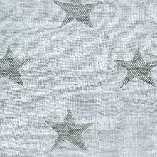 toquillas Lino estrellas blanco antracita de Bondesiobebe