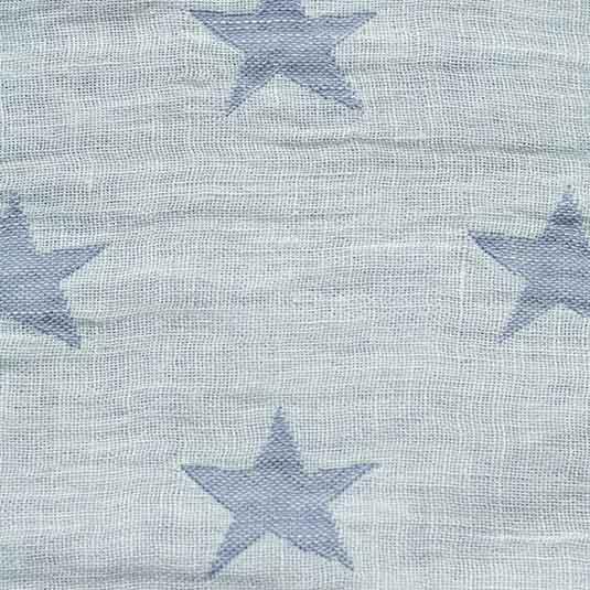 Lino estrellas blanco azul para toquillas de Bondesiobebe