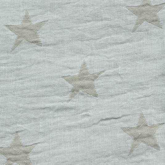 Lino estrellas blanco beige de Bondesiobebe para ropa de cama bebe