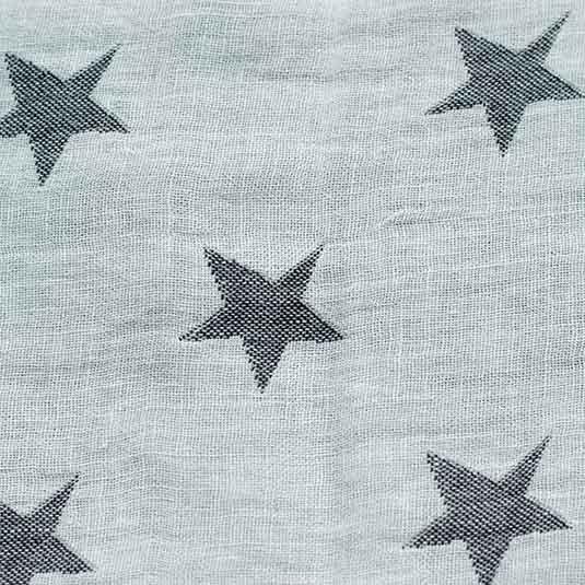 Lino estrellas blanco negro de Bondesiobebe para ropa carro bebe