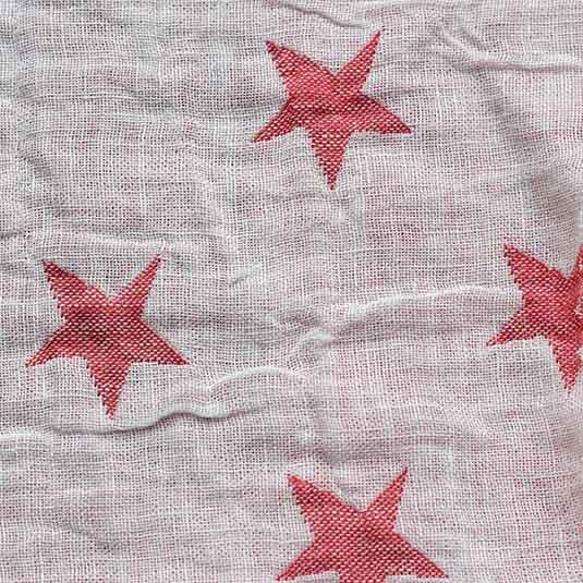 Lin estrellas blanco rojo de Bondesiobebe