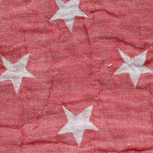 Lino estrellas rojo blanco de Bondesiobebe para manta