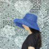 Pamela Brisa azul klein diseño propio confeccionado en tejido transpirable