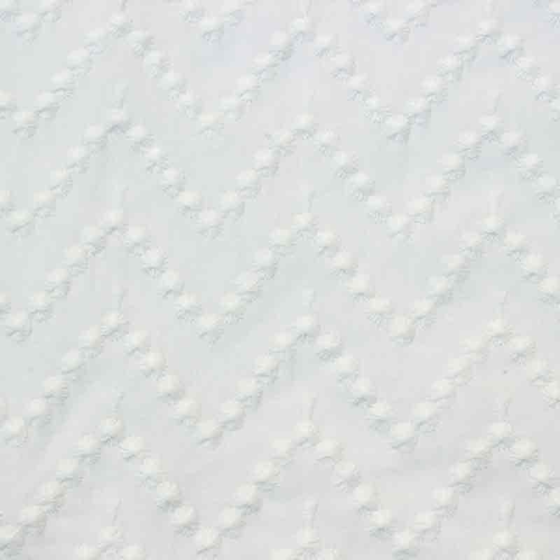 Tejido Algodón zig-zag bordada. Colección Bondesio FW 17/18 hecho a mano