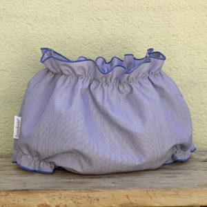 Culotte mil rayas azul festoneado en azul