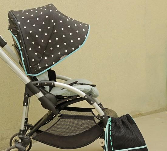 Coordinado de capota funda silla y mochila para Bugaboo Bee personalizado por Bondesiobebe