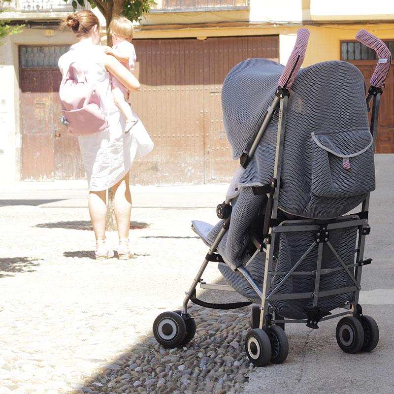 Silleta Maclaren personalizada con tejido Brisa por Bondesio