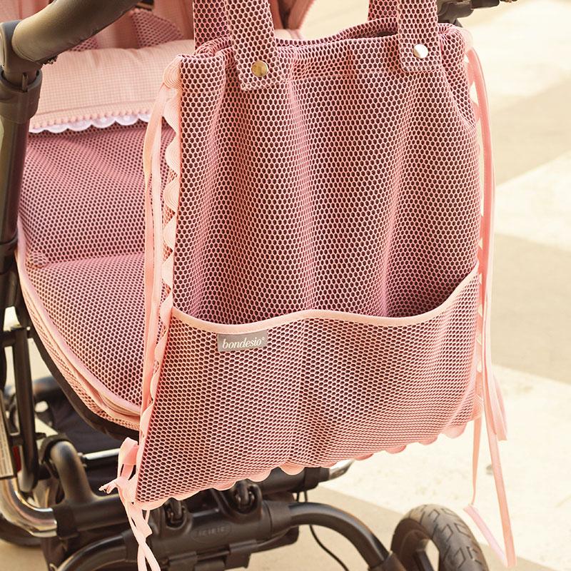 Bolso hecho a mano para Carrito Jane epic personalizado con tejido Brisa por Bondesio