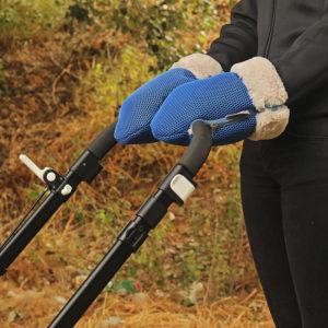 Guantes Brisa azul klein para carrito de bebe confeccionados por Bondesio para guantes carrito de bebe
