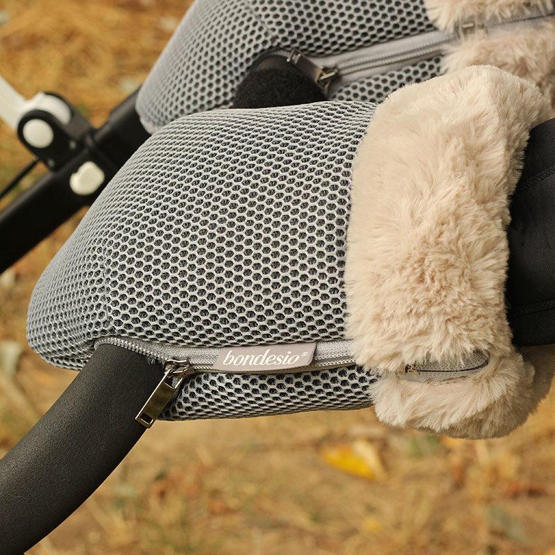 Guantes Brisa gris para carrito de bebe confeccionados por Bondesio