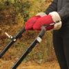 Guantes Brisa rojos para carrito de bebe confeccionados por Bondesio