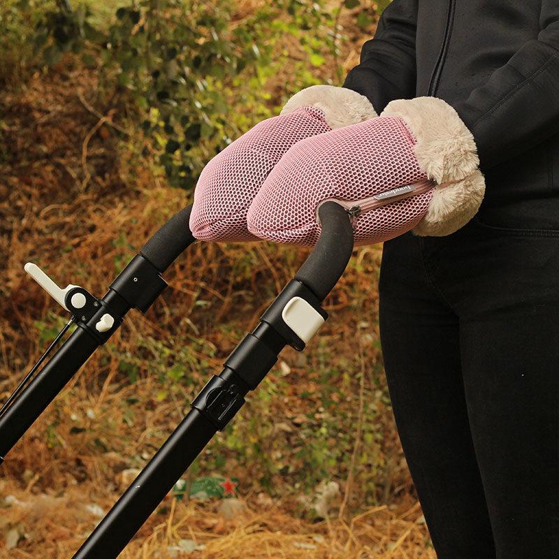 Guantes Brisa rosa para carrito de bebe confeccionados por Bondesio