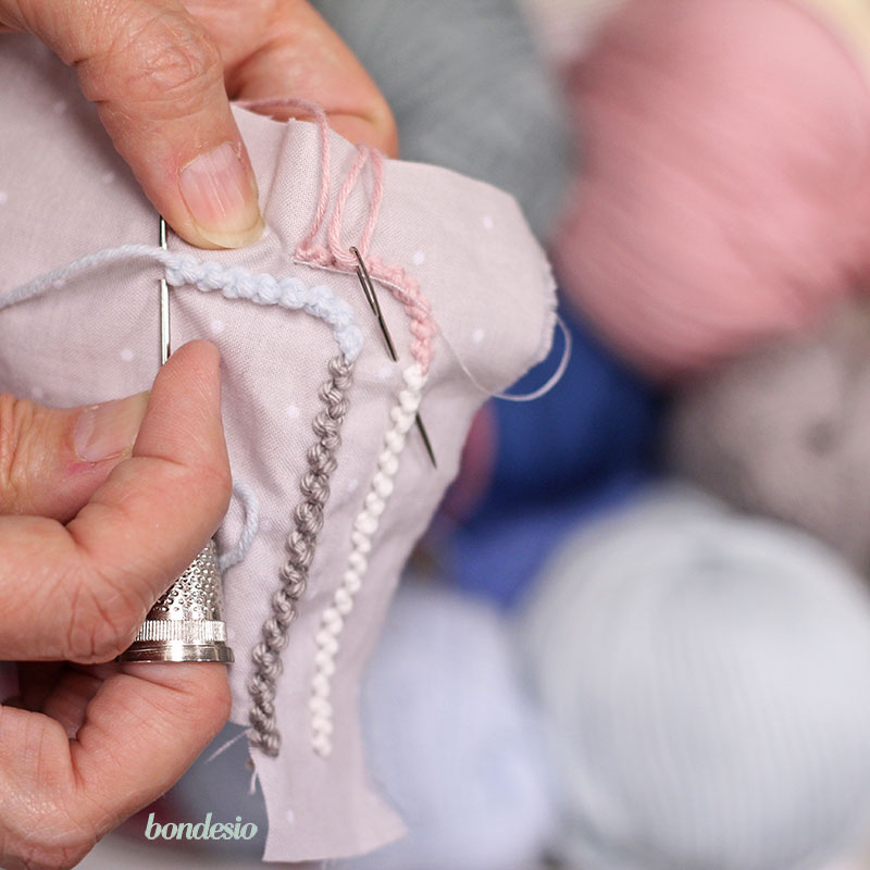 Nuevos bordados a mano por Bondesio