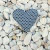 Pin corazón brisa azul de Bondesio