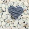 Pin corazón brisa gris de Bondesio