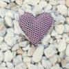 Pin corazón brisa rosa de Bondesio