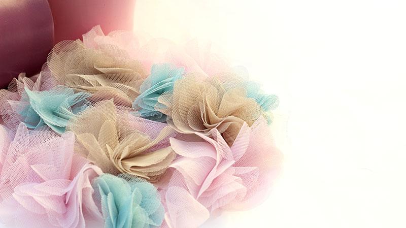 Flor picolina tul de Bondesio