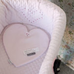 Cubrecapazo Heart bordado a mano por Bondesio