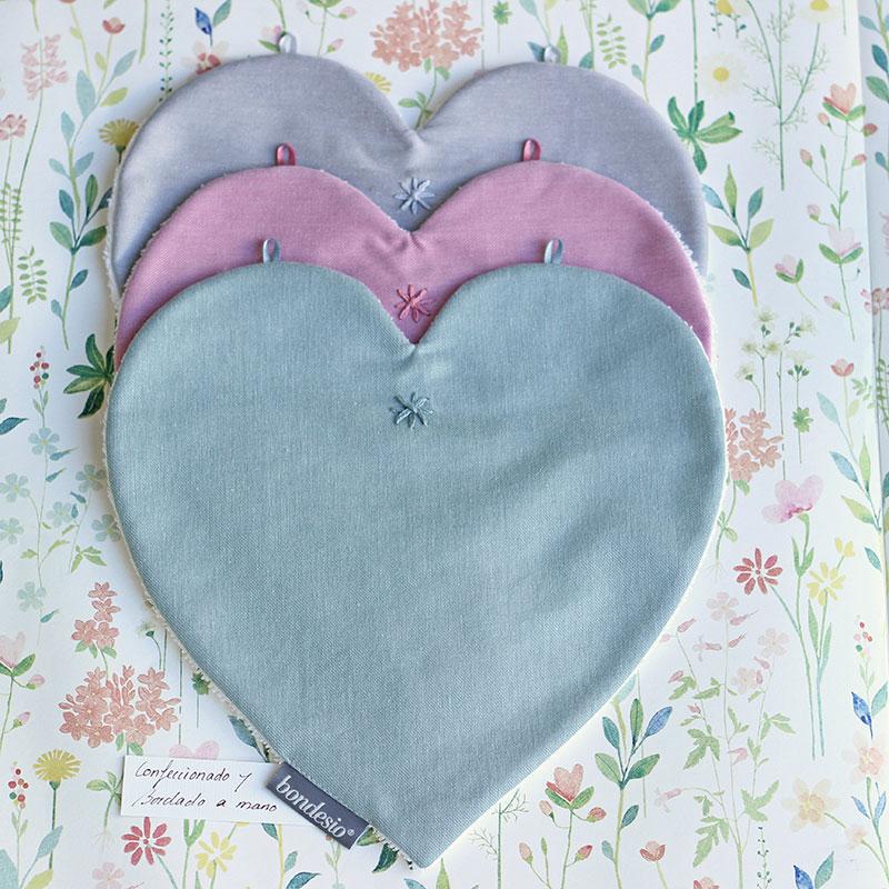 Bocaditas corazón diseño y confeccion de Bondesio