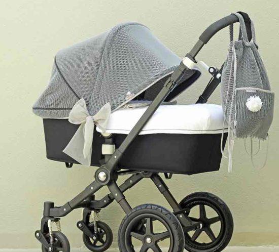 Coordinado Brisa para carro de bebe confeccionado artesanalmente por Bondesio