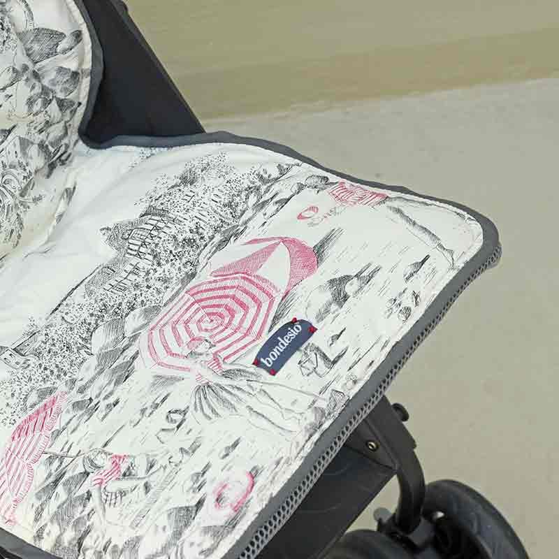 Funda silleta de paseo confeccionada por Bondesio