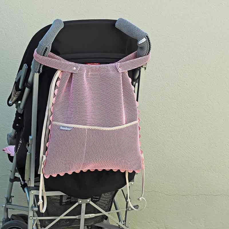 asa y complemento del bolso hecho a mano por bondesio para carrito de bebe