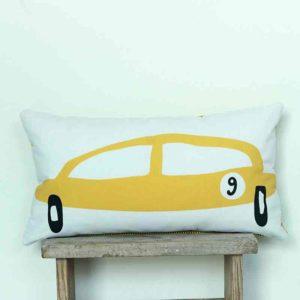 Cojín coche amarillo de Bondesio