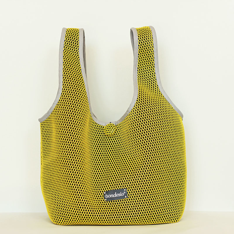 bolso amarillol transpirable