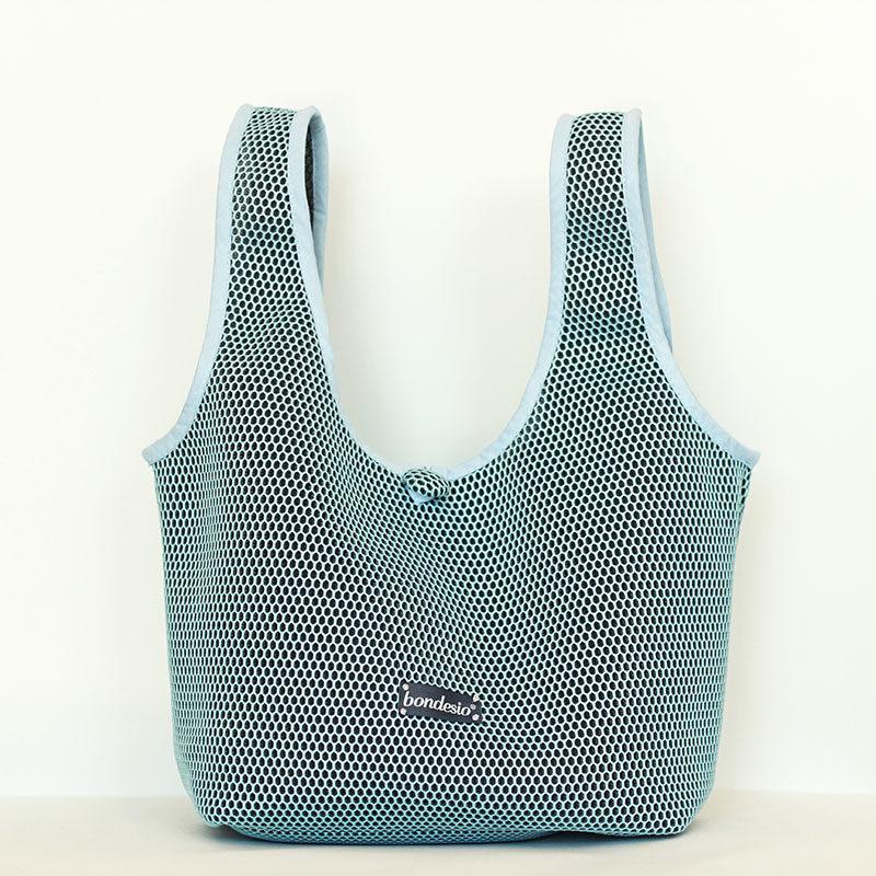 bolso azul transpirable
