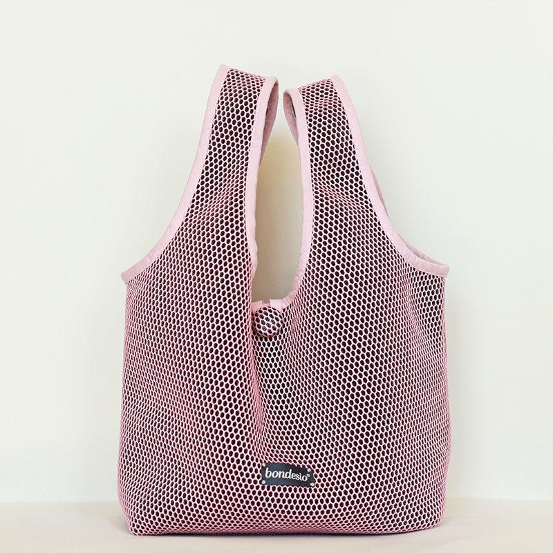 bolso rosa transpirable