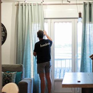 colocación cortinas