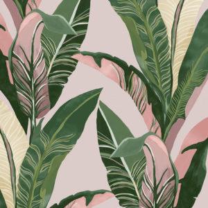 papel pintado hojas