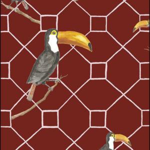 papel pintado tucan