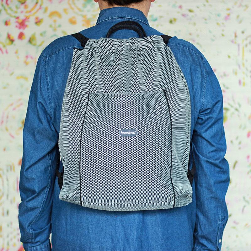 mochila panera transpirable