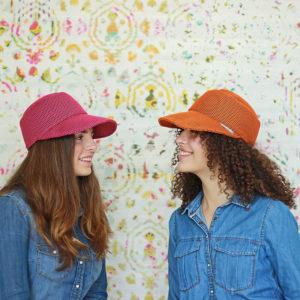 gorra naranja, gorra brisa, gorra frambuesa