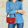 mini bolso rojo lavable