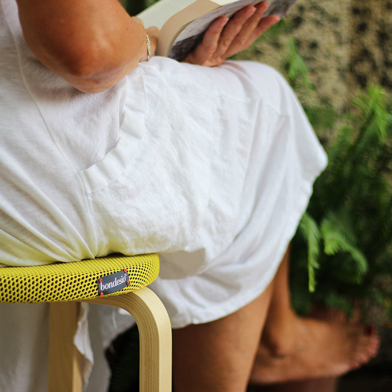 funda amarilla taburete ikea