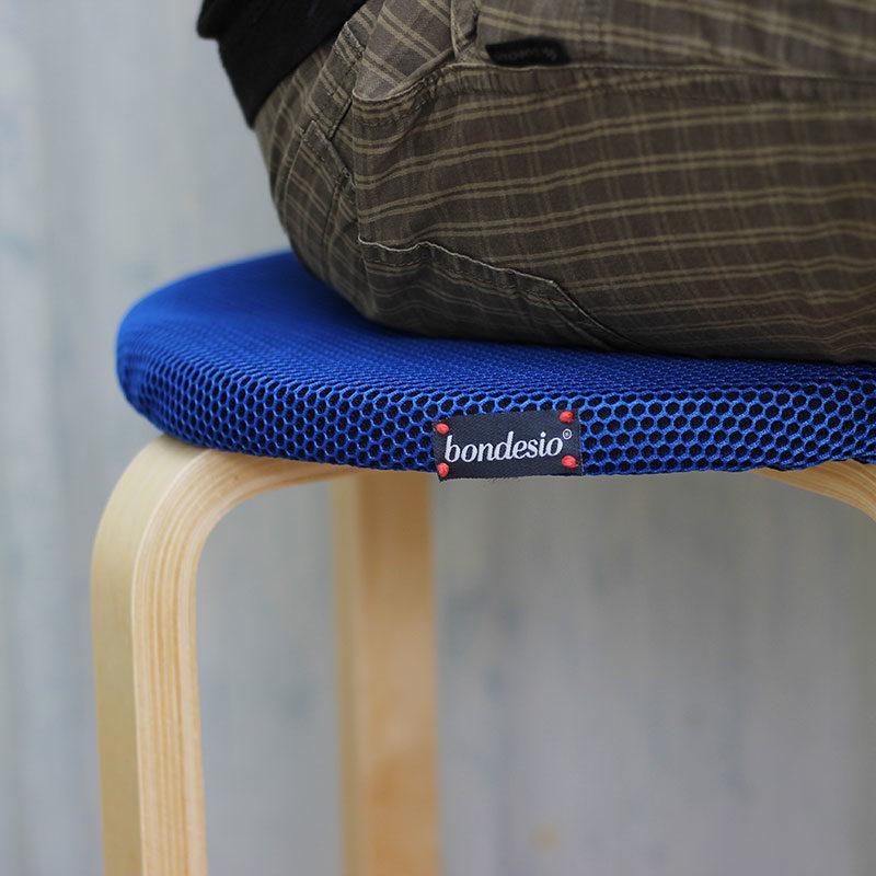 funda azul taburete ikea