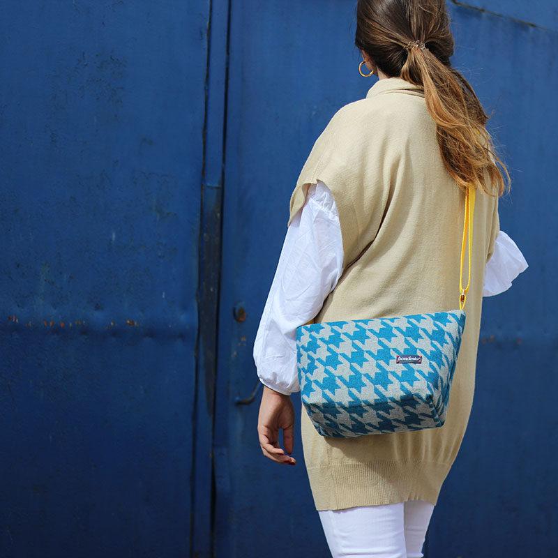 bolso bandolera azul