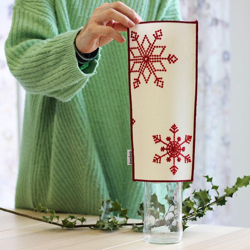 jarron navidad blanco