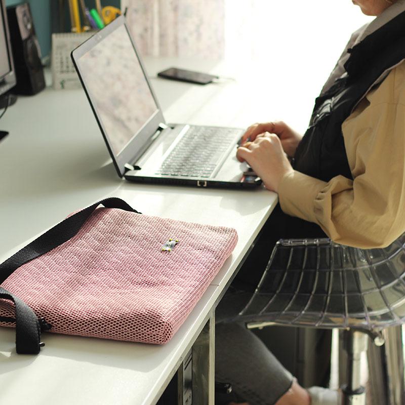 funda ordenador rosa